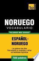 libro Vocabulario Espanol Noruego   7000 Palabras Mas Usadas