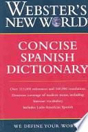 libro Webster's New World Concise Spanish Dictionary