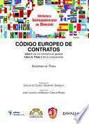 libro Código Europeo De Contratos De La Academia De Pavía