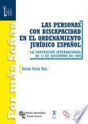 libro Las Personas Con Discapacidad En El Ordenamiento Jurídico Español