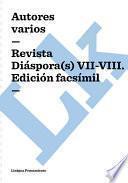 libro Revista Diaspora(s) Vii Viii. Edición Facsimil