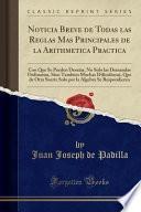 libro Noticia Breve De Todas Las Reglas Mas Principales De La Arithmetica Practica
