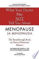 libro La Menopausia