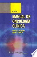 libro Manual De Oncología Clínica