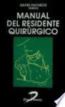 libro Manual Del Residente Quirúrgico