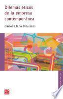 libro Dilemas éticos De La Empresa Contemporánea