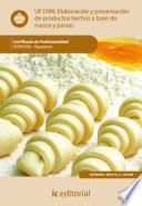 libro Elaboraciones Y Presentaciones De Productos Hechos A Base De Masas Y Pastas. Hotr0509