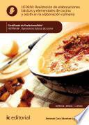 libro Realización De Elaboraciones Básicas Y Elementales De Cocina Y Asistir En La Elaboración Culinaria. Hotr0108