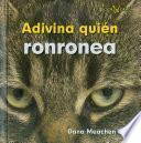 libro Adivina Quién Ronronea