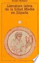 libro Literatura Latina De La Edad Media En España