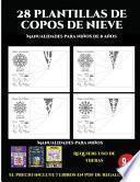 libro Manualidades Para Niños De 8 Años (28 Plantillas De Copos De Nieve 2