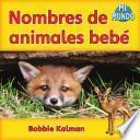 libro Nombres De Animales Bebé
