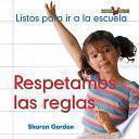 libro Respetamos Las Reglas