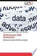 libro 26 Domeinu Sql Ariketekin