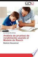 libro Análisis De Pruebas De Rendimiento Usando El Modelo De Rasch