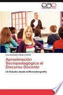 libro Aproximación Sociopedagógica Al Discurso Docente