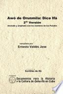 libro Awó De Orunmila: Dice Ifá. 2da Versión. Anotada Y Ampliada Con Los Nombres De Los Patakin