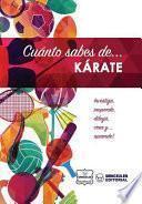 libro Cuánto Sabes De... Karate