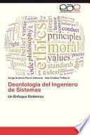 libro Deontología Del Ingeniero De Sistemas