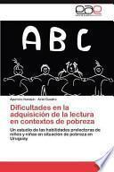 libro Dificultades En La Adquisición De La Lectura En Contextos De Pobrez