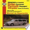libro Dodge Caravan, Plymouth Voyager, Chrysler Town And Country 1984 Al 1995