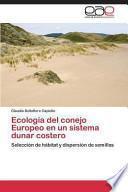 libro Ecología Del Conejo Europeo En Un Sistema Dunar Costero