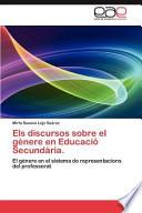 libro Els Discursos Sobre El Gènere En Educació Secundària