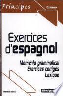 libro Exercices D Espagnol