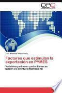 libro Factores Que Estimulan La Exportación En Pymes