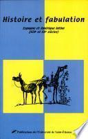libro Histoire Et Fabulation