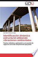 libro Identificación Dinámica Estructural Utilizando Vibraciones Ambientales