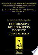 libro La Creación De Equipos Multidisciplinares De Profesores Universitarios Para Fomentar El Trabajo Cooperativo Entre Los Alumnos