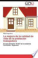 libro La Mejora De La Calidad De Vida De La Población Trabajadora