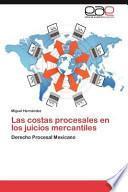 libro Las Costas Procesales En Los Juicios Mercantiles