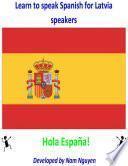 libro Learn To Speak Spanish For Latvia Speakers