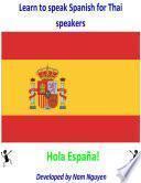 libro Learn To Speak Spanish For Thai Speakers