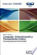 libro Lenguaje, Comunicación Y Pensamiento Crítico