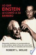 libro Lo Que Einstein Le Contó A Su Barbero