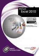 libro Manual Excel 2010. Formación Para El Empleo
