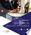 libro Manual. Habilidades De Dirección De Equipos (adgd145po). Especialidades Formativas