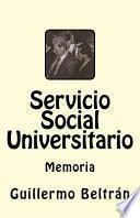 libro Memoria Servicio Social Universitario