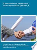 libro Mf0837_2   Mantenimiento De Instalaciones Solares Fotovoltaicas