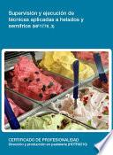 libro Mf1776_3   Supervisión Y Ejecución De Técnicas Aplicadas A Helados Y Semifríos