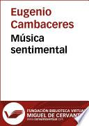 libro Música Sentimental