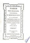 libro Paseos Por Granada Y Sus Contornos, ó Descripcion De Sus Antiguedades Y Monumentos