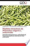 libro Péptidos Bioactivos De Phaseolus Vulgaris L Endurecido