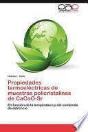 libro Propiedades Termoeléctricas De Muestras Policristalinas De Cacoo Sr