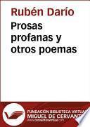 libro Prosas Profanas Y Otros Poemas