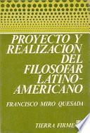 libro Proyecto Y Realización Del Filosofar Latinoamericano