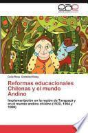 libro Reformas Educacionales Chilenas Y El Mundo Andino